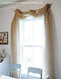 No Sew Landscape Burlap Swag Curtains