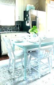 Teal Dining Room Table Kitchen Laminate Tables Chairs Blue