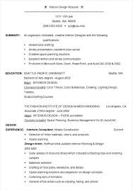 Download Now Interior Designer Resume Example Template Free Samples Of