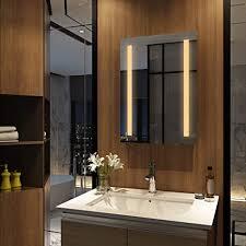 meykoers wandspiegel badezimmerspiegel led badspiegel mit beleuchtung 50x70cm warmweiß 3000k spiegel mit beleuchtung lichtspiegel ohne schalter