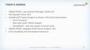 solarwinds federal government se webinar technical update demo o