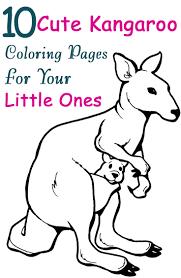 Top 10 Free Printable Kangaroo Coloring Pages Online