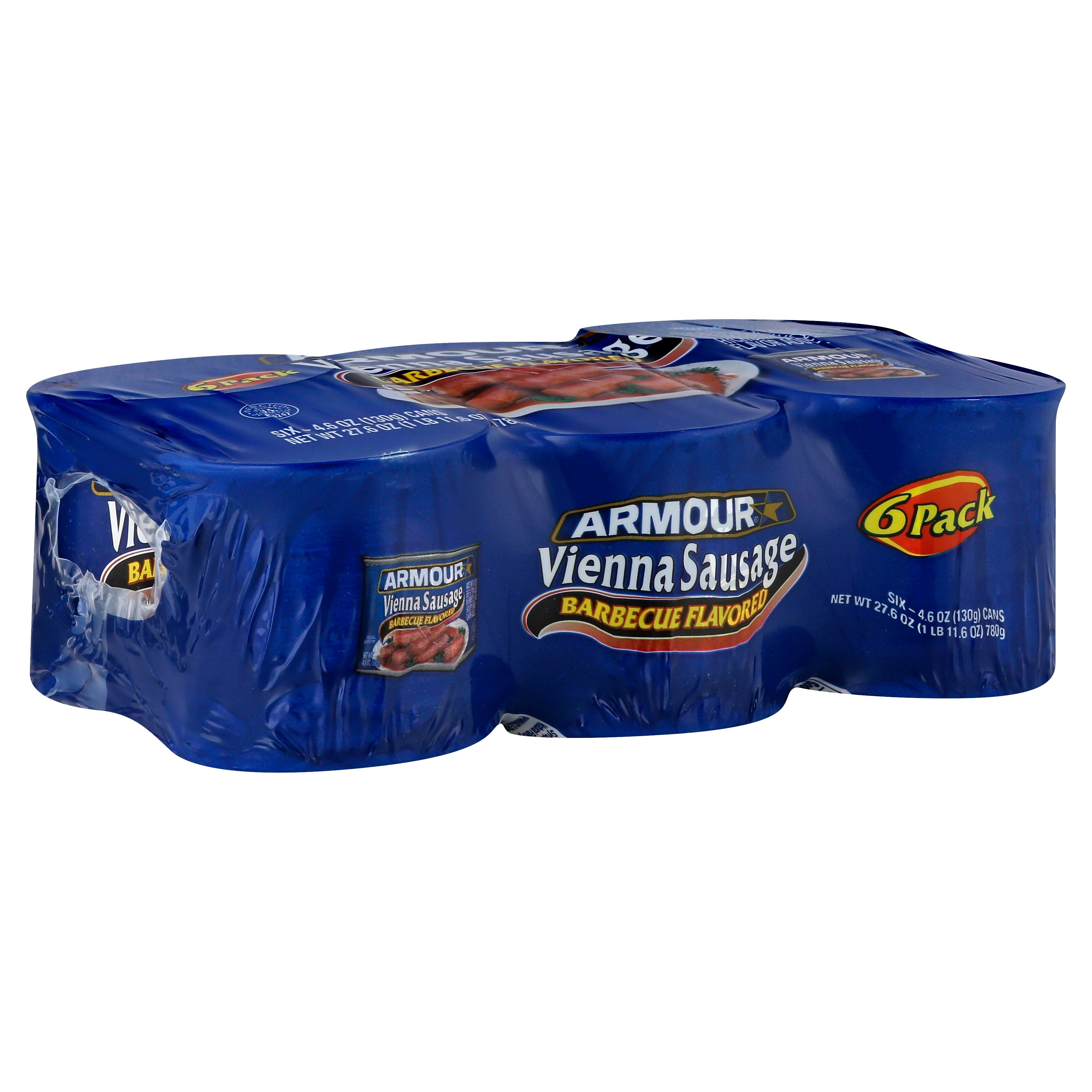 Armour Vienna Sausage - Barbecue Flavored, 6 x 4.6oz