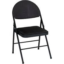 cosco comfort folding chair black set of 4 walmart com