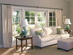 appealing curtains for bay windows in living room medium size of