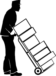 Moving Clipart Black And White