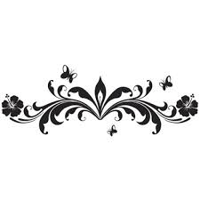 luxus floralmuster schmetterling wandtattoo edel wohnzimmer