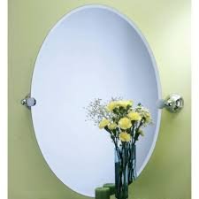 bathroom interesting frameless round tilting bathroom mirror