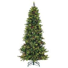9 Ft Flocked Pencil Christmas Tree by 7 5 Ft Pre Lit Flocked Pencil Pine Christmas Tree Kirklands