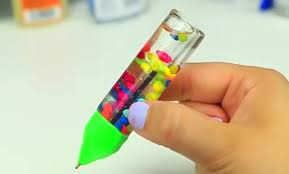 DIY How To Make Liquid Glitter Lava Pen 28