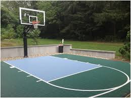 Backyards: Trendy Basketball Backyard Court. Small Backyard ... Triyae Asphalt Basketball Court In Backyard Various Design 6 Reasons To Install A Synlawn Home Decor Amazing Recreational Lighting Full 4 Poles Fixtures A Custom Half For The True Lakers Snapsports Outdoor Courts Game Millz House Cost Australia Home Decoration Residential Gallery News Good Carolbaldwin Multisport System Photo Diy Stencil Hoops Blog Clipgoo Modern