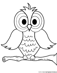Owl Coloring Page Pages