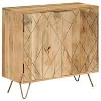 vidaxl sideboard mangoholz massiv 80 x 30 x 75 cm