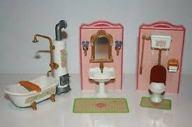 playmobil nostalgie badezimmer wanne ofen wc vintage