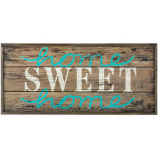 home sweet home wood pallet mdf sign hobby lobby 12x26 decor