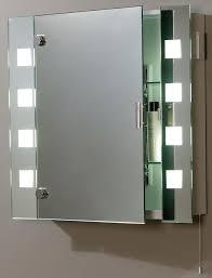 illuminated shaver socket bathroom mirror cabinet el milos care