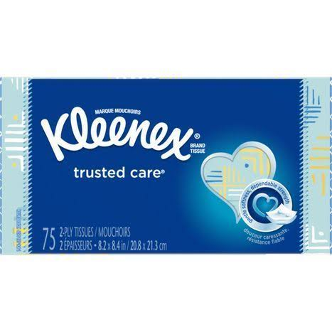 Kleenex KCWW Tissues, Trusted Care, 2-Ply - 75 tissues