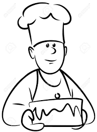 Baker with cake Vector Stock Vector chef