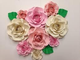 Shabby Chic Wedding Decor Pinterest by 9 Pc Paper Flower Backdrop Roses Shabby Chic Weddings Bridal