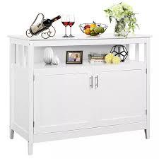 costway moderne küche schrank buffet server tisch sideboard esszimmer holz weiß