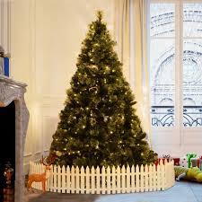 HOMCOM 7 Feet Artificial Christmas Tree Pre Lit 350 Flashing Warm White LED