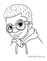 African American Childrens Coloring Pages Free Page 6