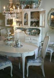 Shabby Chic Dining Room Hutch by Shabby Chic Table Chairs Cabinet Just Pretty Pinterest
