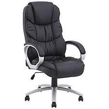 black high back pu leather executive office desk task