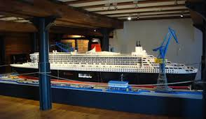 Lego Ship Sinking 2 by Rms Queen Mary 2 Ship Qm2