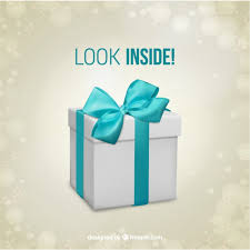 Gift box surprise template Vector