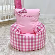 Personalised Pink Gingham Bean Bag Chair - Default Title Personalised Thomas The Tank Engine Bean Bag Chair Default Title Large Adult Us 300 Cover Only No Fillings Splash Pattern With Pink Strap Harness Seat Baby Beanbag Chair Sleeping Toddler Kid Bena Bag Sofain Sofas Butterflycraze Minnie Mouse Toddler New Kids Children Girls Fniture Aart Store Printed Canvas Storage Beans For Vintage Floral Disney Cars Sofa Creating A Reading Nook Family Beehive Cordaroys Full Size Convertible By Lori Greiner Qvccom Portable Cover Feeding Baby Pouf Adjustable Belt Harness Safety Protection Soft Sleeping Tiffercolabear