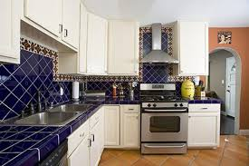 kitchen exquisite blue and yellow kitchen decoration using blue