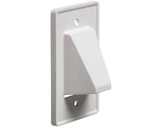 Arlington Recessed Cable Wall Plate - White, 1 Gang