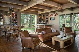 Refined Rustic Furniture Family Room Farmhouse With Home Bar Traditional Height Stools