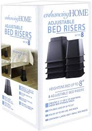Sturdy Bed Risers by Enhancing Home U0027s Premium Adjustable Bed Risers Bed Lifts For