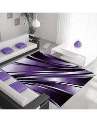 moderner designer wohnzimmer teppich parma lila größe 80x150 cm