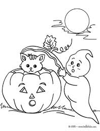 Ghosts And Pumpkin Coloring Page