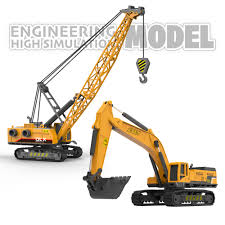 100 Construction Trucks US 89 47 OFF Crane Excavator Toy 155 Diecast Engineering Vehicle Tractor Digger Children Car Model For Boys Giftin Diecasts
