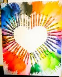 Melted Crayons Shaped As A Heart Needs Canvas Hair Dryer