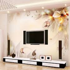 Chinese Style Flowers Butterfly Mural Wall Painting Modern Simple Living Room TV Sofa Backdrop Home Decor Wallpaper Roll
