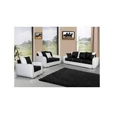 fauteuil canape canapé 3 2 1 avec fauteuil calypso noir et blanc achat vente