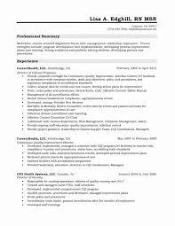 Nursing Resume Summary Samples Fresh Sample
