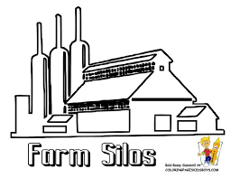Farm Coloring Page Of Silos You Can Print Out This Picture