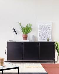 lama schwarzes metall sideboard oder tv schrank