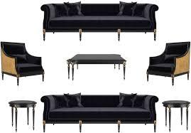 casa padrino luxus barock wohnzimmer set schwarz gold antik gold 2 sofas 2 sessel 1 couchtisch 2 beistelltische möbel im barockstil