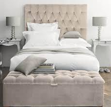 Velvet Headboard King Bed by Bedroom Elegant White Tufted Headboard For Elegant Bed Design