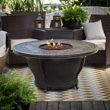 Agio Patio Furniture Covers by Agio Tempe 48 In Round Fire Pit Table With Free Cover Hayneedle