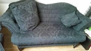 designer sofa mit sessel und hocker