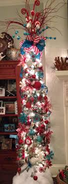Turquoise Red Pencil Christmas Tree