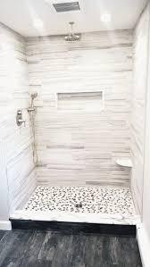 black and white pebble tile shower pan pebble tile shop